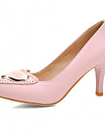 Women's Shoes Leatherette Stiletto Heel Heels Heels Office & Career / Dress / Casual Green / Pink / Beige