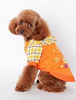 Hunde Kapuzenshirts / Kleidung / Kleidung Blau / Orange Sommer / Frühling/Herbst Karton Schottenmuster / Modisch-Lovoyager
