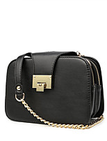 Women PU Baguette Shoulder Bag-Black