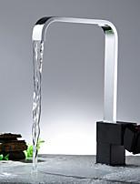 Armatur für die Küche-Messing-Zeitgenössisch-Wasserfall-Nickel poliert