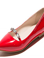Women's Shoes Leatherette Flat Heel Mary  Flats Outdoor / Office & Career / Casual Black / Red / Silver / Almond