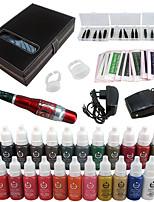 solong tatuaggio kit per il trucco permanente penna tatuaggio macchina sopracciglio labbra set 23 inchiostri di trucco ek707-5