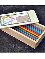 Bois Building Blocks DIY Toys Pour Enfants Orange