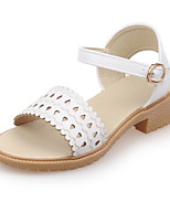 Women's Shoes Leatherette Spring / Summer / Fall Comfort Dress / Casual / Party & Evening Chunky Heel Pink / White / Beige