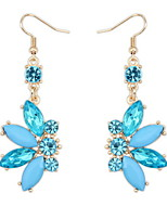 Shiny Colorful Small Butterfly Alloy Pierced Drop Earrings Fashion Female Models Cute Women Vintage Jewelry