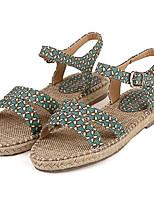 Women's Shoes Microfibre Summer Comfort Outdoor / Casual Flat Heel Buckle Blue / Pink