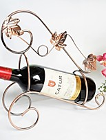 Vintage Metal Maple Leaf Wrought Iron Red Wine Rack Retro Home Decoration