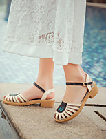 Women's Shoes Chunky Heel Platform / Open Toe Sandals Dress / Casual Pink / Gray / Beige