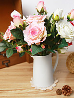 Silk Roses Artificial Flowers Wedding Flowers Multicolor Optional 1pc/set