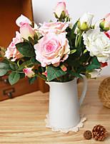 rosas de seda flores artificiais flores do casamento multicolor 1pc opcional / set