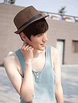 Unisex Straw Solid Fedora Hat,Cute / Party / Casual Spring / Summer / Fall