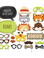 20PCS Animal Card Paper Photo Booth Props Party Fun Favor