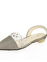 Women's Shoes Synthetic Flat Heel Slippers Slippers Outdoor / Casual Silver / Gold