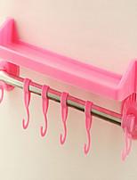 estanterías baño que incorpora lechón colgando de toallas