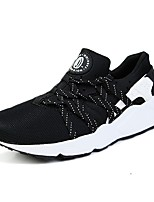 Men's Shoes Tulle Casual Fashion Sneakers Casual Flat Heel Black and Gold / Black and White