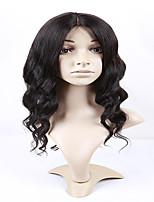 Freeshipping Brazilian Human Virgin Vigs Middle Part Loose Wave Wigs Human Hair Lace Wigs