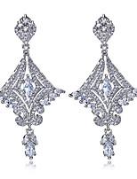 New jewelry Deluxe Drop Earrings Platinum plated Cubic zircon Earrings posts Allergy-free posts earrings for women