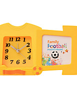 reloj de la forma linda novedad silenciador de la alarma de plástico (color al azar)