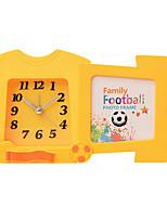 Cute Shape Novelty Mute Plastic Alarm Clock (Random Color)