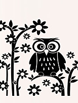 Animals OWL Wall Stickers Florals Wall Decals Botanical / Cartoon / Romance Wall Stickers Plane Wall Stickers