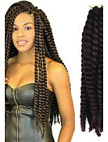 12-24 inch Crochet Braid Havana Mambo Afro Twist Hair Extension 99J# with Crochet Hook