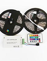 ZDM™ 2X5M  Waterproof 144W 5050 SMD RGB LED Lamp Strip 1BIN2 Signal Line IR24 Iron Controller(DC12V 12A)