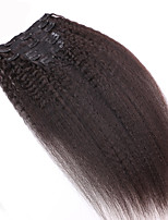 8A 100% Remy Natural Clip In Human Hair Extensions Brazilian Virgin Hair Clip In Extension Kinky Straight