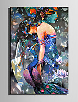 Mini Size E-HOME Oil painting Modern Abstract Woman Pure Hand Draw Frameless Decorative Painting