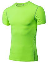 Men's Running T-shirt Running Quick Dry / Wicking White / Green / Red / Gray / Black / Blue / Purple