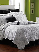 3PC Quilt Sets Full Cotton Peony Jacquard 92
