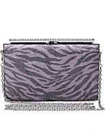 L.WEST Women's Handmade Leopard Grain Diamonds Evening Bag