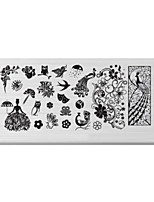 BlueZOO Rectangle Printing Nail Art Stamping (C-022)