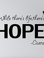 Modern Wall Sticker White While There'S A Life, There'S A Hope. Cicero Inspiring Wall Art Quotes