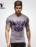 Corsa Top / T-shirt / Calze Per uomo Traspirante / Asciugatura rapida / Compressione Terylene Fitness / Corsa SportivoAbbigliamento