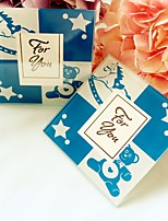 Baby Boy Birthday Party Photo Frame and Glass Coasters Baby Shower Favors(1pcs)
