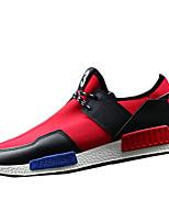 Scarpe da uomo-Sneakers alla moda-Casual-Tessuto-Nero / Blu / Rosso