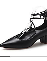 Women's Shoes  Chunky Heel Comfort / Pointed Toe / Closed Toe Heels Dress Black / Almond