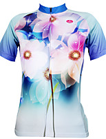 Cycling Tops / Jerseys Women's Ultraviolet Resistant / Quick Dry / Sweat-wicking Short Sleeve Bike Stretchy Coolmax Floral / Botanical