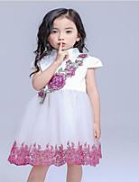 Girl's Orange Dress,Floral Cotton All Seasons