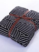 Strip Pattern Knitted Blanket Acrylic Fiber  59