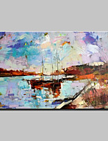 Large Hand Painted Modern Abstract Landscape Oil Painting On Canvas Wall Art With Stretched Frame Ready To Hang 90x140cm