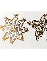 Lovely Waterproof Metal Small Gold Face Sticker W195