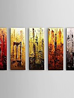 Hand painted Abstract Oil Painting 5 Piece/Set Home Decor Wall Art with Stretched Frame
