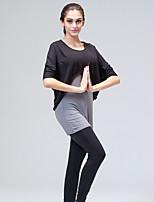 Ioga Moletom Calças+Tops Respirável / Sem Eletricidade Estática / Redutor de Suor Elasticidade Alta Wear Sports Mulheres-OutrosIoga /