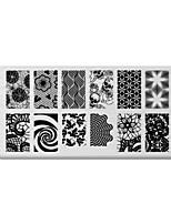 BlueZOO Rectangle Printing Nail Art Stamping (C-035)