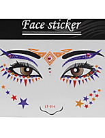 Abstract Pat Nightclubs Party Red Face Sticker LT-014
