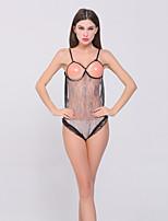 Women's Fashion Strap Backless Ultra Sexy / Teddy Nightwear,Spandex