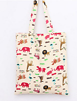 Women-Casual / Shopping-Canvas-Shoulder Bag-Pink / Blue