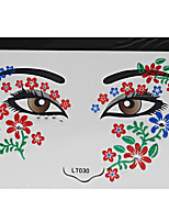 Abstract Pat Nightclubs Party Red Face Sticker LT-030