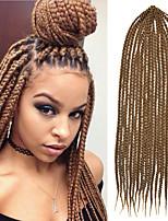 24'' Kanekalon Senegalese Small Box Braids Hair Crochet Twist Braids Synthetic Braiding Hair Ombre Brown Colors